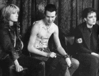 Viv Albertine, Sid, Siouxsie Sioux. 100 Club, Oxford Street, September 20th 1976